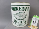 York Brand Oyster Can