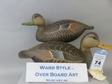 Pr. Ward Style Black Ducks by Over Board Art