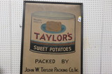 John W. Taylor Packing Sign