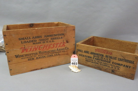 2 Woden Ammo Boxes