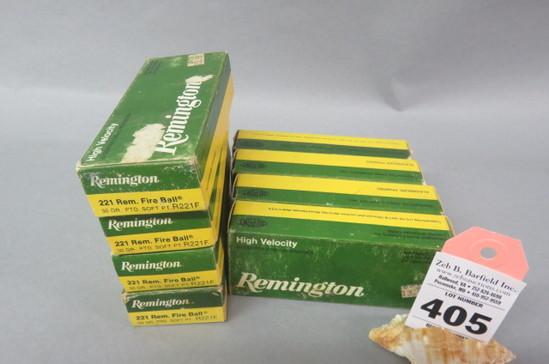 8 Boxes .221 Rem. Fireball Ammo