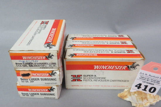 6 Boxes 9MM Luger Ammo