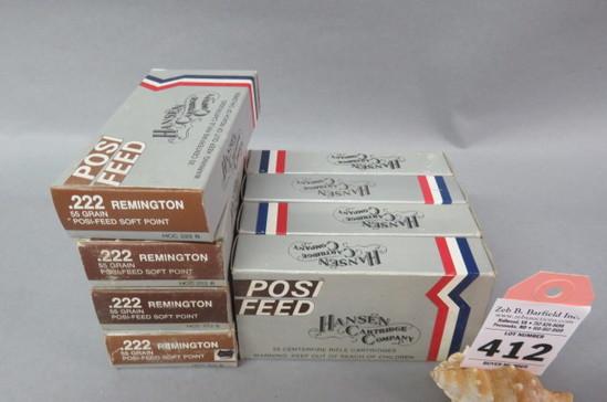 8 Boxes .222 Rem. Ammo