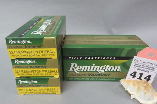 5 Boxes 221 Rem. Fireball Ammo