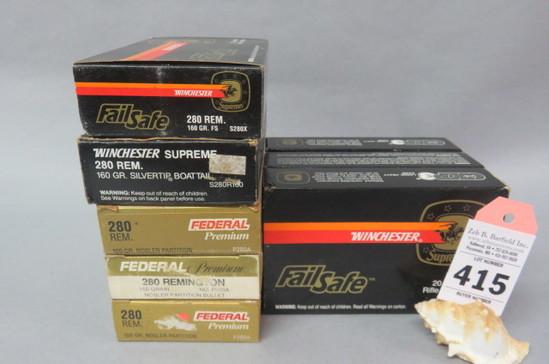 8 Boxes 280 Rem Ammo