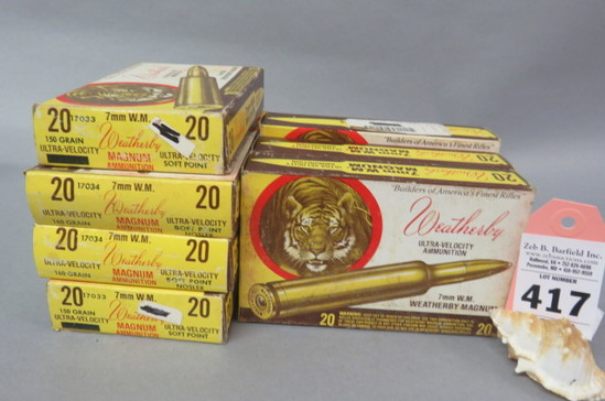 7 Boxes 7MM W.M. Ammo