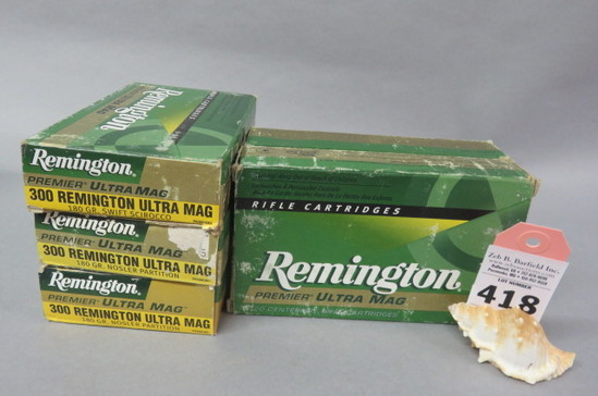5 Boxes 300 Rem. Ultra Mag. Ammo