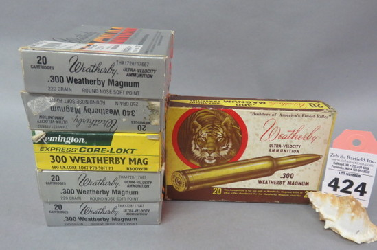 6 Boxes 300 Weatherby Mag. Ammo