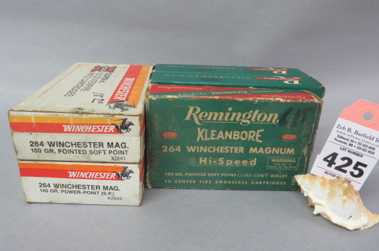5 Boxes 264 Win. Mag. Ammo