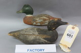 Lot of 2 Old Factory Decoys