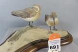 Shorebird Pair by Lou Hottes