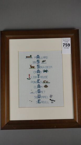 ASSATEGUE CROSS STITCH BY BUFF KRAMER