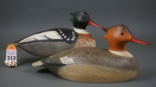 Red Breasted Mergansers by L T Ward Brothers