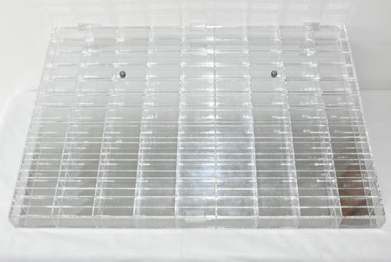 108 SPACE ACRYLIC MIRRORED DISPLAY FOR 1/64 DIECASTS
