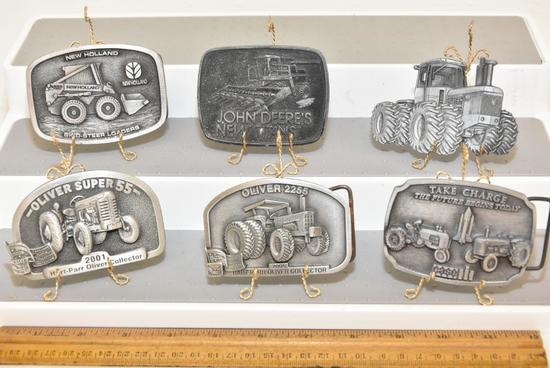 "BELT BUCKLES JOHN DEERE TRACTOR (1980), JOHN DEERE'S NEW TITANS (1978), CASE ""TAKE CHARGE THE FUTURE"