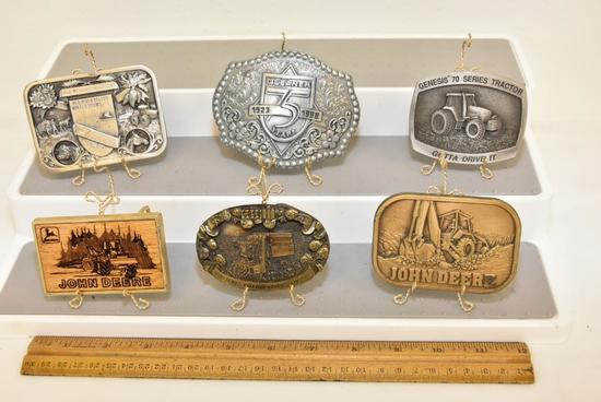 BELT BUCKLES RED RIVER VALLEY WINTER SHOWS 1986 COMMEMORATIVE 1910-1986 76TH ANNIVERSARY SECOND