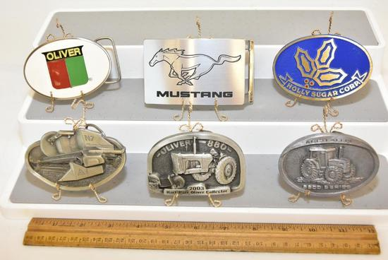 BELT BUCKLES AGCO ALLIS 660 SERIES DEUTZ ALLIS, HOLLY SUGAR COPR DYNA BUCKLE PROVO UTAH SOLID BRASS,