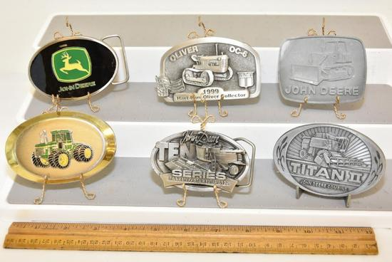 BELT BUCKLES OLIVER OC-6 1999 HART-PARR OILVER COLLECTOR, LIMITED EDITION 363 OF 500, JOHN DEERE