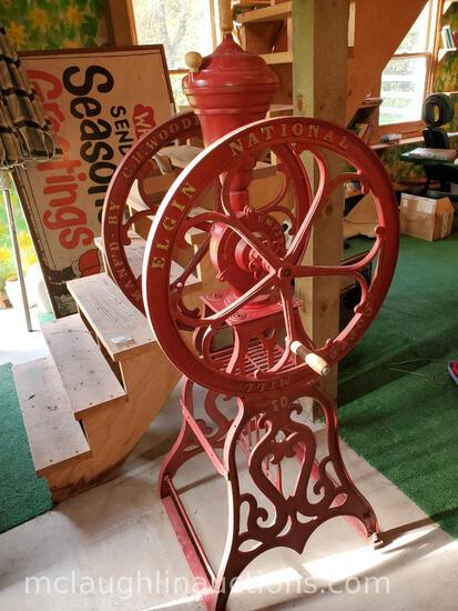 Large Elgin National Coffee Mill