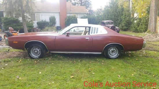 1974 Dodge charger SE edition featuring air conditioning, bucket seats and slap stick shifter. 360