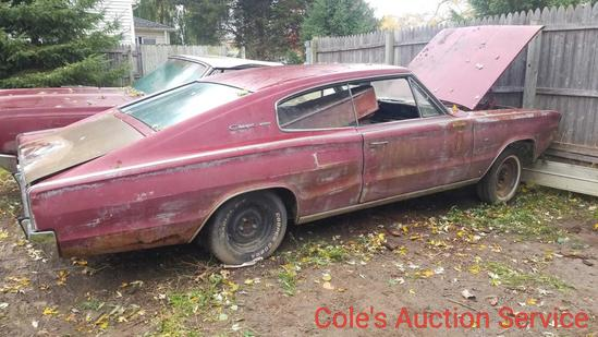 1966 Dodge Charger great for parts or restoration. See photos for details or call with questions.