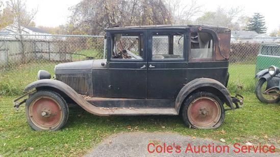 1926 Chevy four door. Nice cruiser that needs restoration.