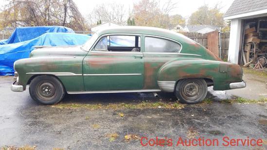 1951 Chevrolet 2 door rat rod. Features 327 Chevrolet small-block, 350 turbo transmission, B&m