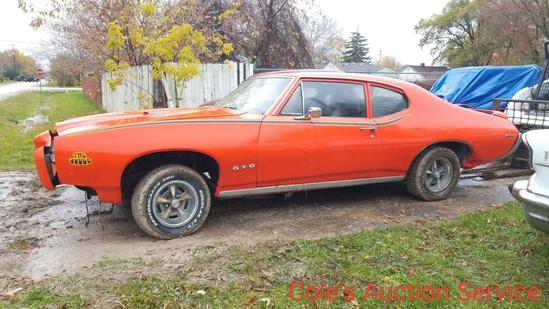 1969 GTO judge clone. Full restoration started but not finished. Features 455 cubic inch engine,