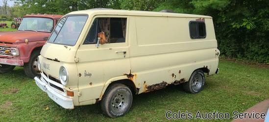 "Dodge A100 ""Scooby-Doo"" van with title. Super cool vehicle that would make a great restoration"