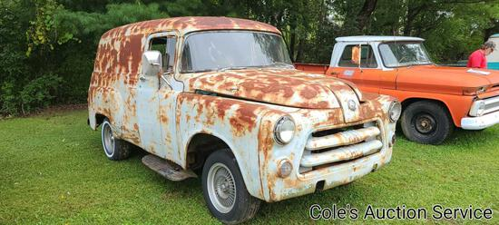 1956 Dodge sedan delivery truck. Solid rolling chassis restoration project from California with