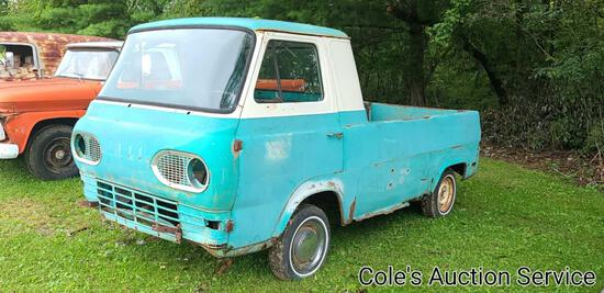 1962 Ford Econoline truck. No motor or transmission but a great restoration project. See photos for