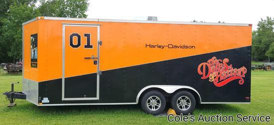 2015 Lark custom 20 ft enclosed trailer in brand new condition. Model number VT8.5x20TA-5200. 8.5 ft