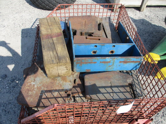 6X  ASSORTED TRACTOR WTS/BRACKETS *TIMES THE MONEY*