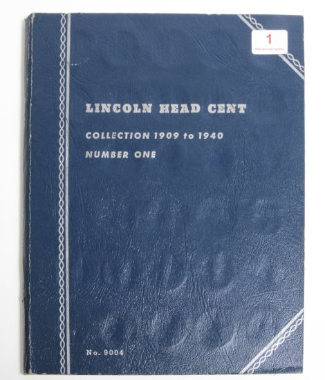 Whitman album of Lincoln Cents (1909-1940), partial, but many mintmarked teens