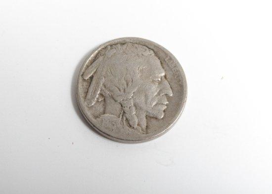 1913-D Type 1 Buffalo nickel--Fine, scratches on reverse