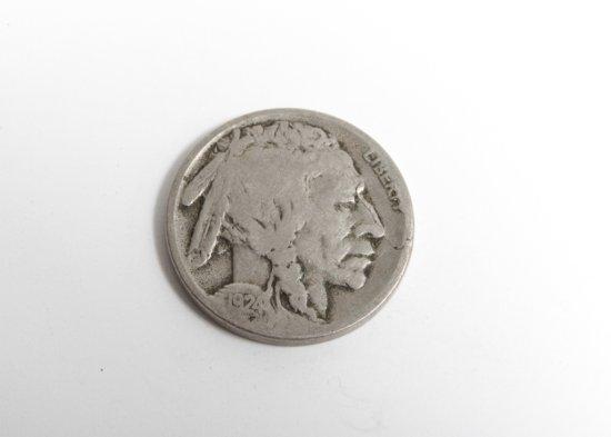 Scarce 1924-S Buffalo nickel--VG