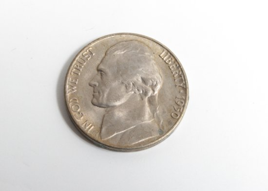 1950-D Jefferson nickel, uncirculated key date