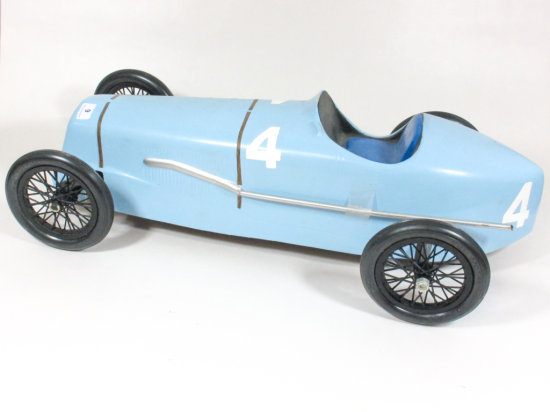 17 Inch Hand Painted Plastic Molded Car
