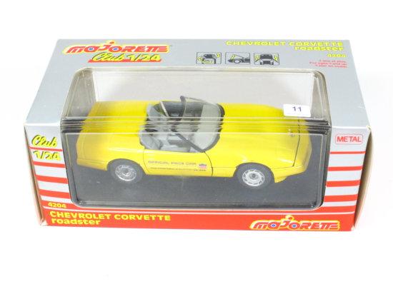 Die Cast Chevrolet Corvette Roadster by Majorette Club 1:24 Ratio