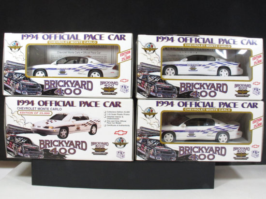 Lot of Four Brookfield Collector's Guild 1994 Monte Carlo Brickyard 400 Official Pace Car