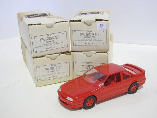 Lot of 4 AMT/Ertl 1991 Chevrolet Beretta GTZ 1/25 scale plastic promo cars