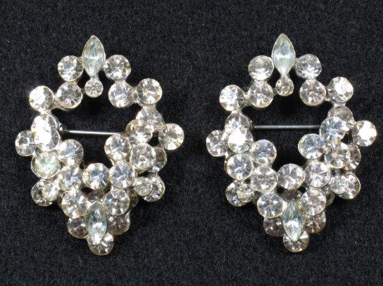Matching Vintage Rhinestone Pins