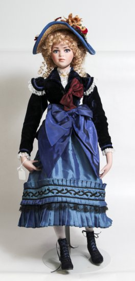 Jan McLean 25-inch Porcelain Doll Eliza Blue (2000)