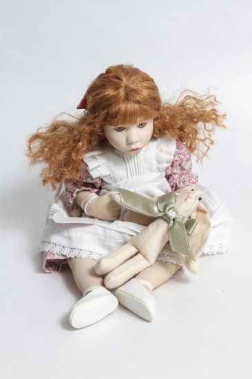 12-inch Ganz Cottage Collectibles Porcelain Doll w/ Rabbit by Pam Hamel (1997)