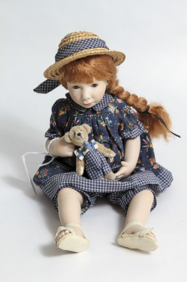 12-inch Ganz Cottage Collectibles Porcelain Doll w/ Bear by Pam Hamel (1997)