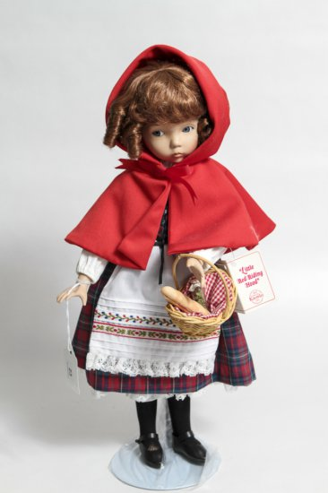 14-inch Little Red Riding Hood Porcelain Doll by Knowles (1988)