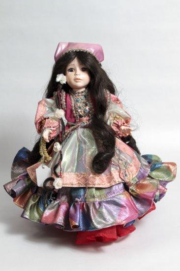 14-inch Vinyl Gypsy Doll in Elaborate Dress