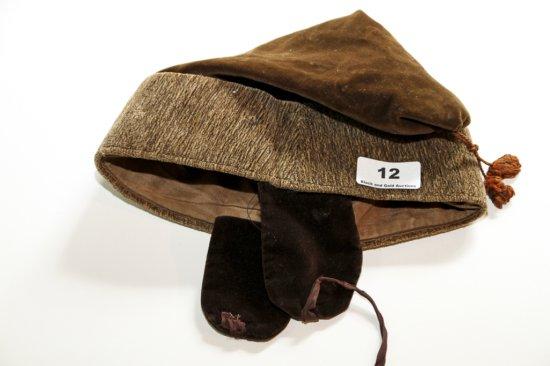 Antique velour pixie/brownie hat