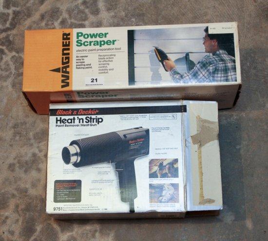 Black & Decker Heat 'n Strip, Wagner Power Scraper