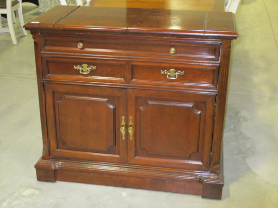 Bassett server with fold-out top